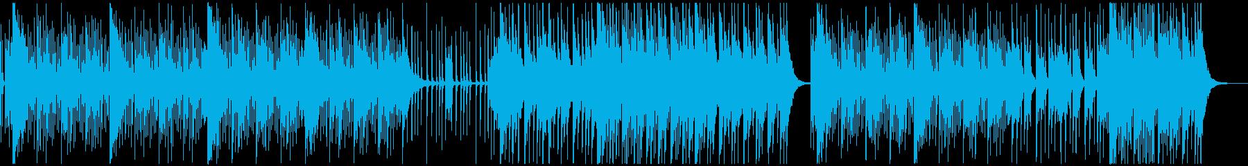 スポーツCM!ダイナミックな激しい打楽器の再生済みの波形