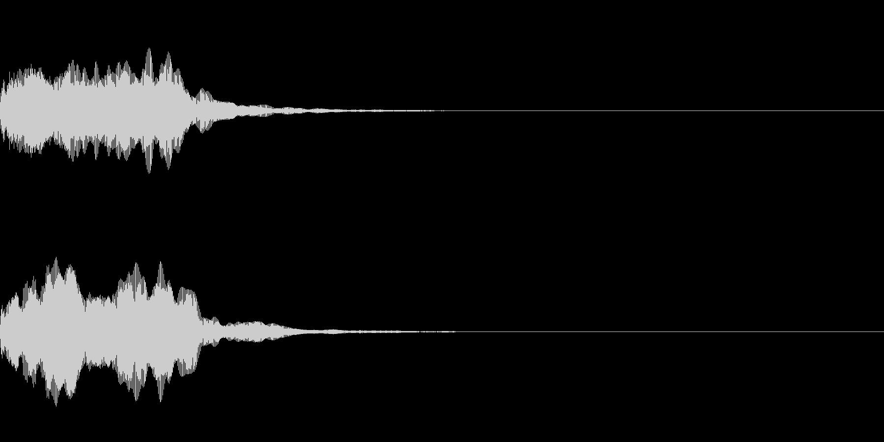 開始の合図などに合うホーンの未再生の波形