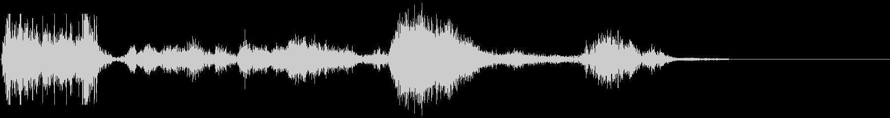 モンスターアクション5の未再生の波形