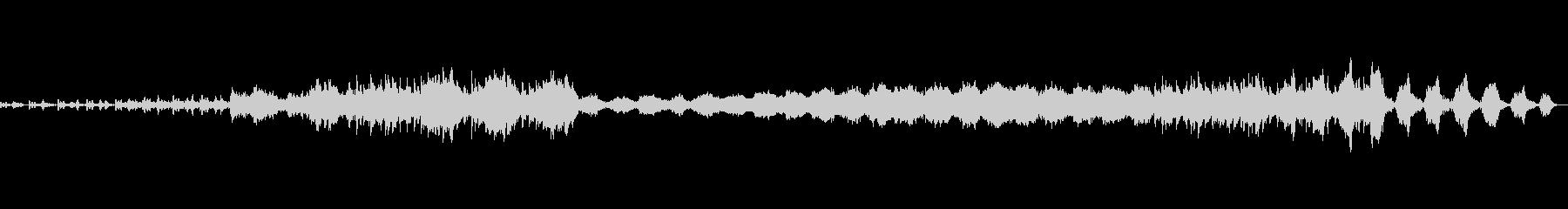 荘厳なオーケストラ曲の未再生の波形