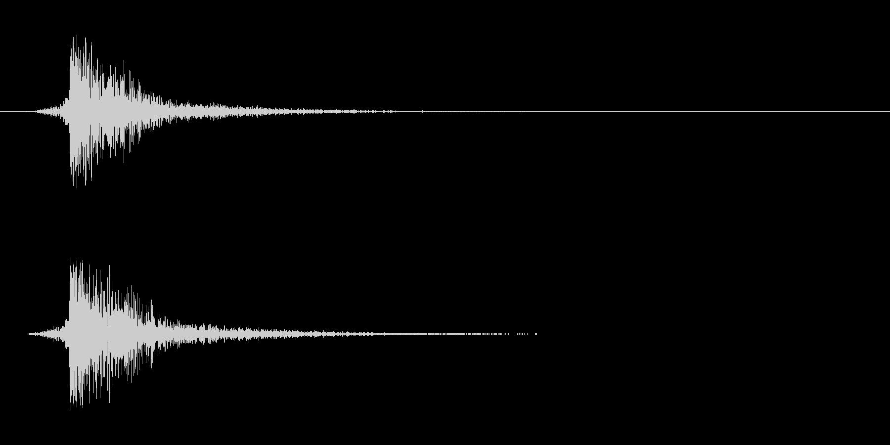シュードーン-5(インパクト音)の未再生の波形