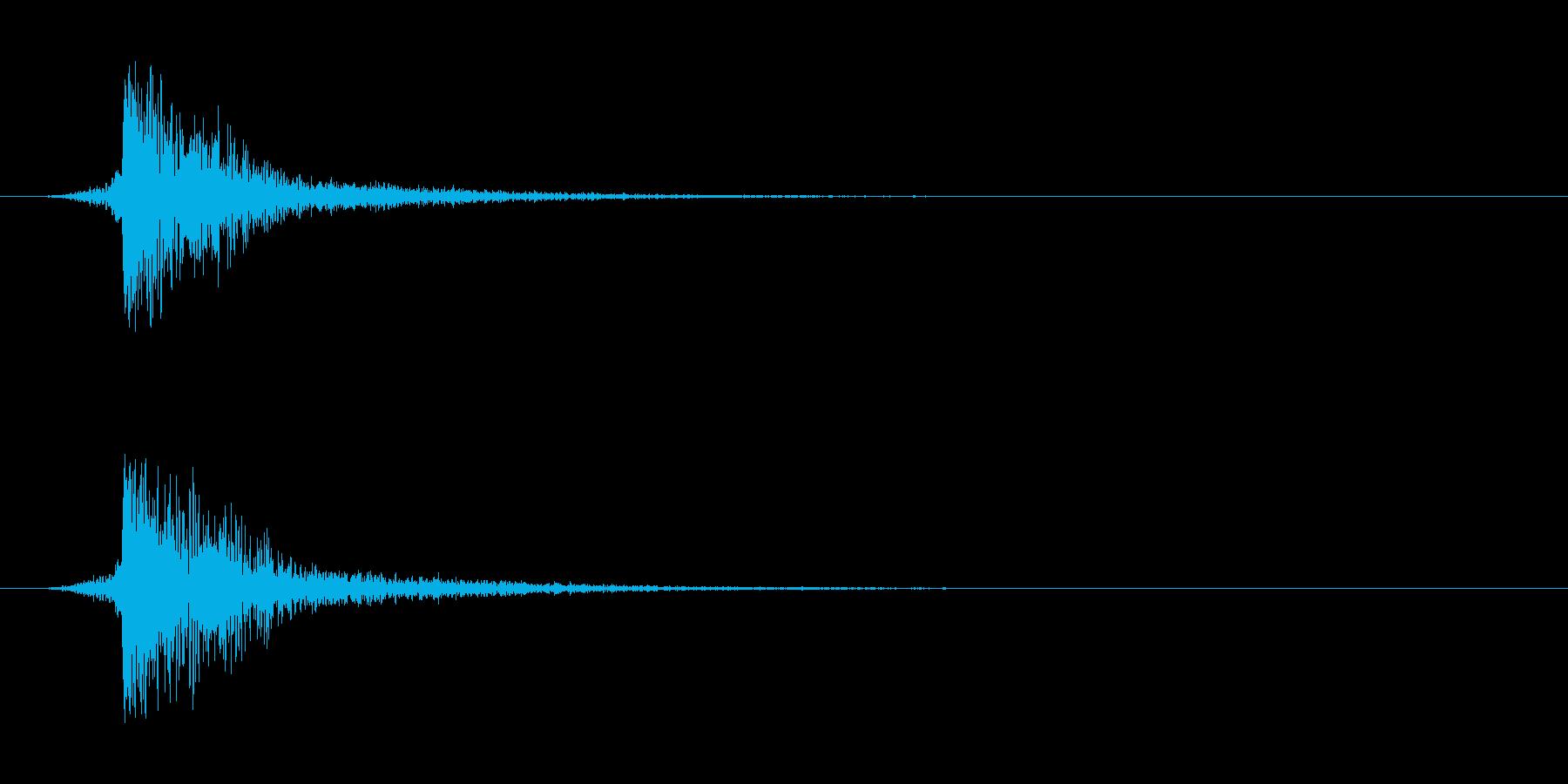 シュードーン-5(インパクト音)の再生済みの波形