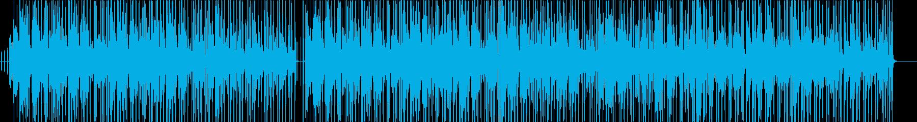 落ち着いた雰囲気の三味線がメインの和風曲の再生済みの波形