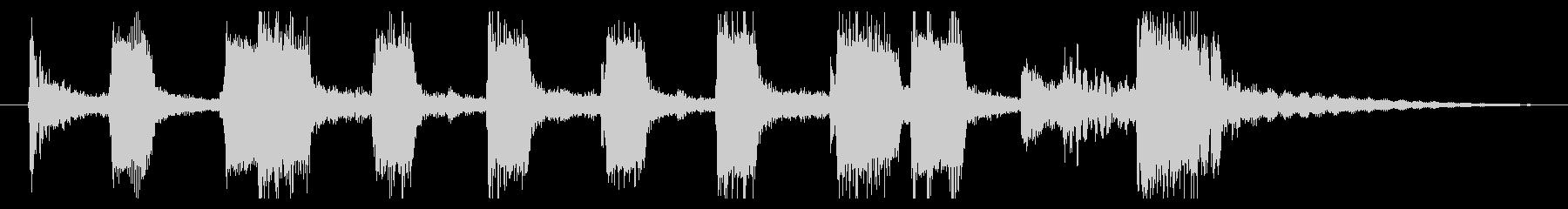 トランペットとトロンボーンのアイキャッチの未再生の波形