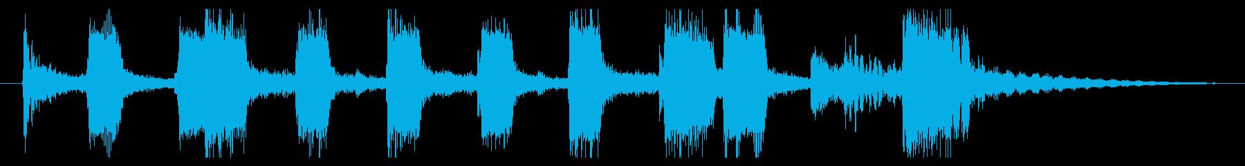 トランペットとトロンボーンのアイキャッチの再生済みの波形