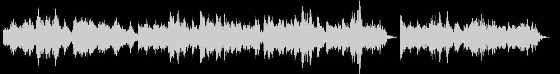 荘厳な教会で歌われるボーイソプラノの未再生の波形