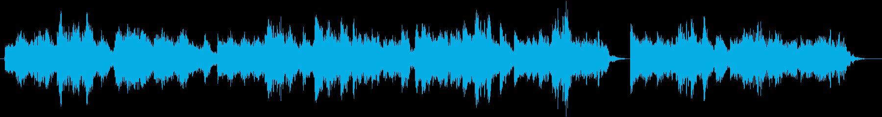 荘厳な教会で歌われるボーイソプラノの再生済みの波形