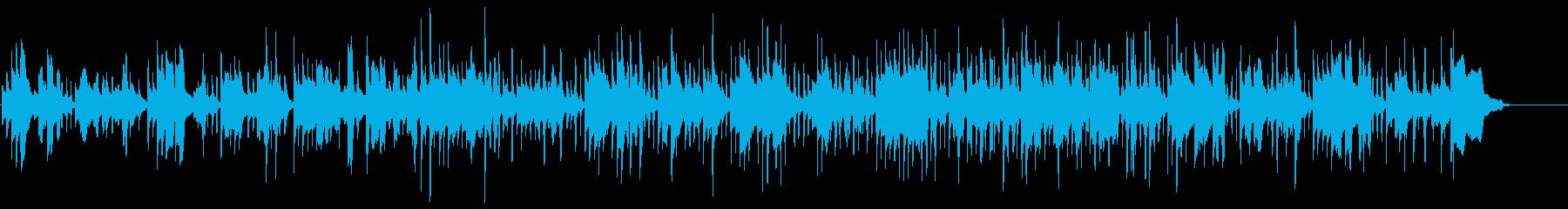 奇妙な場面を表現する音楽の再生済みの波形