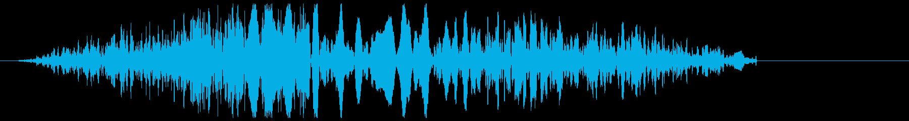 ザシュッと刀で人を切った時の音の再生済みの波形