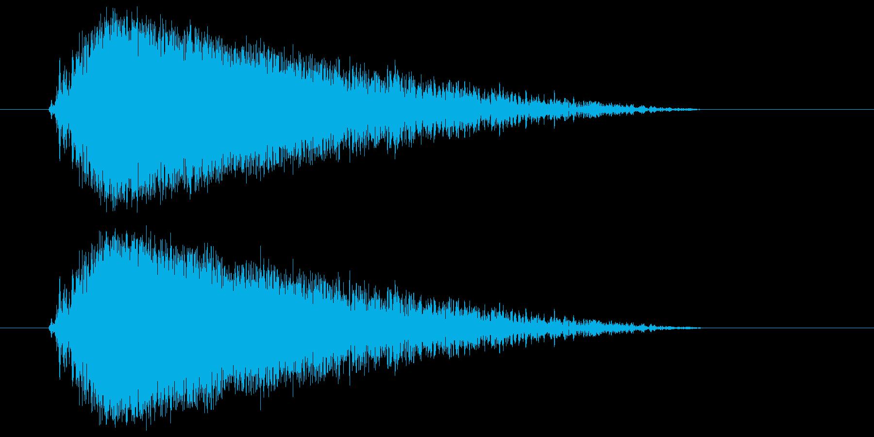 ビュー(強い風の音) 02の再生済みの波形