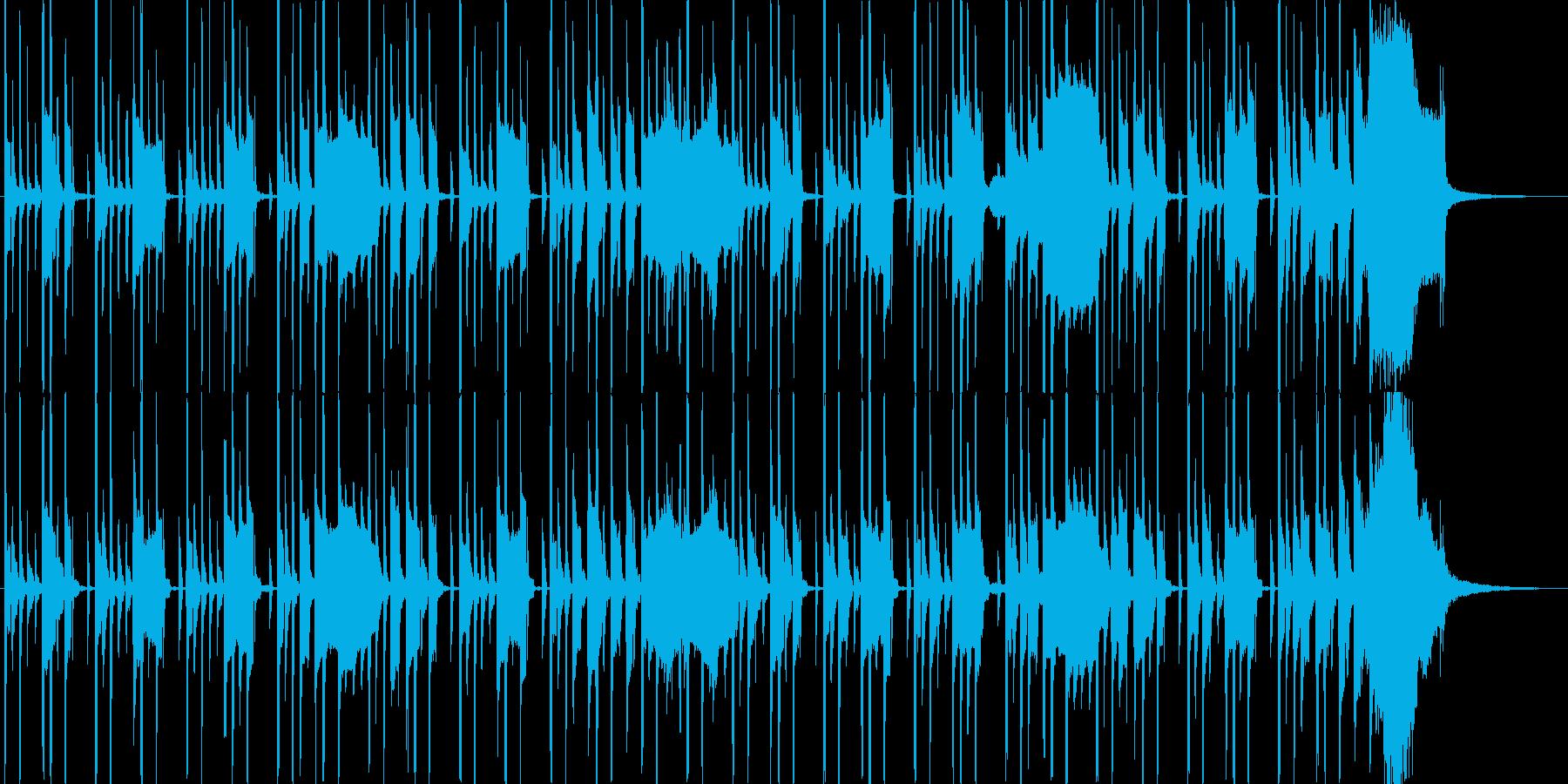 木琴とリコーダーのほのぼのBGMの再生済みの波形