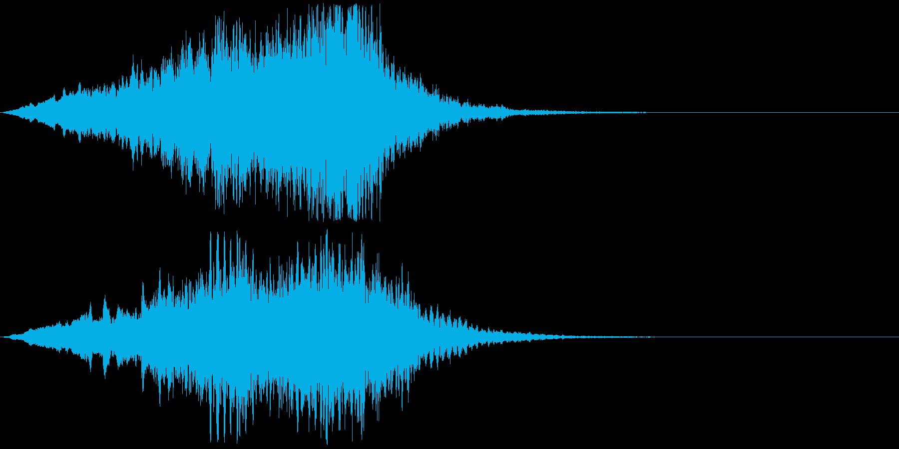 怖い系効果音 キィー 弦楽器の不協和音の再生済みの波形