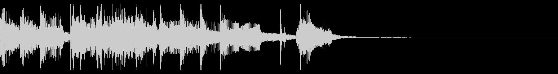 OP/ED用の軽快なアコースティック曲の未再生の波形