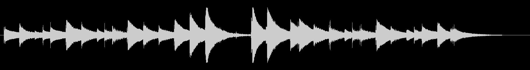 童謡「蛍の光」オルゴールバージョンの未再生の波形