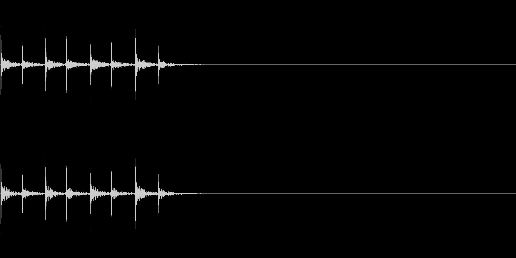 チクタク/カウントダウン/木を叩く音の未再生の波形