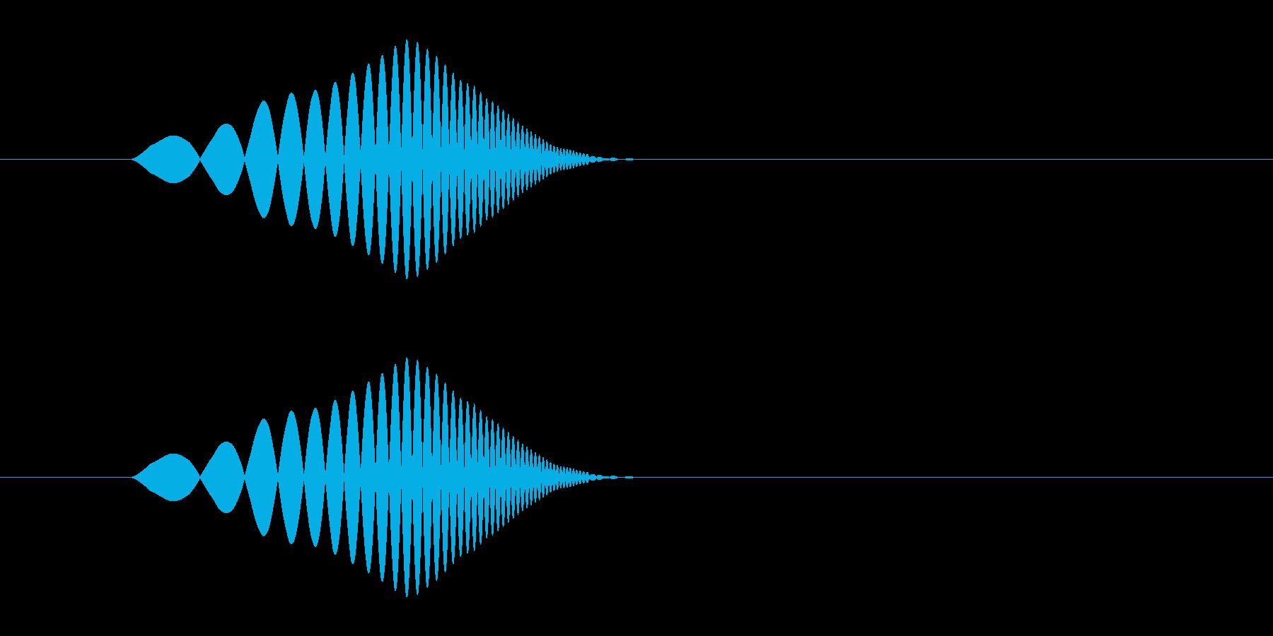 ぽよっ(ほっぺ・吹き出し・バブル)の再生済みの波形