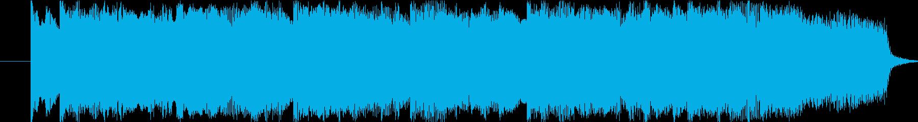 悲しげなピアノ曲の再生済みの波形