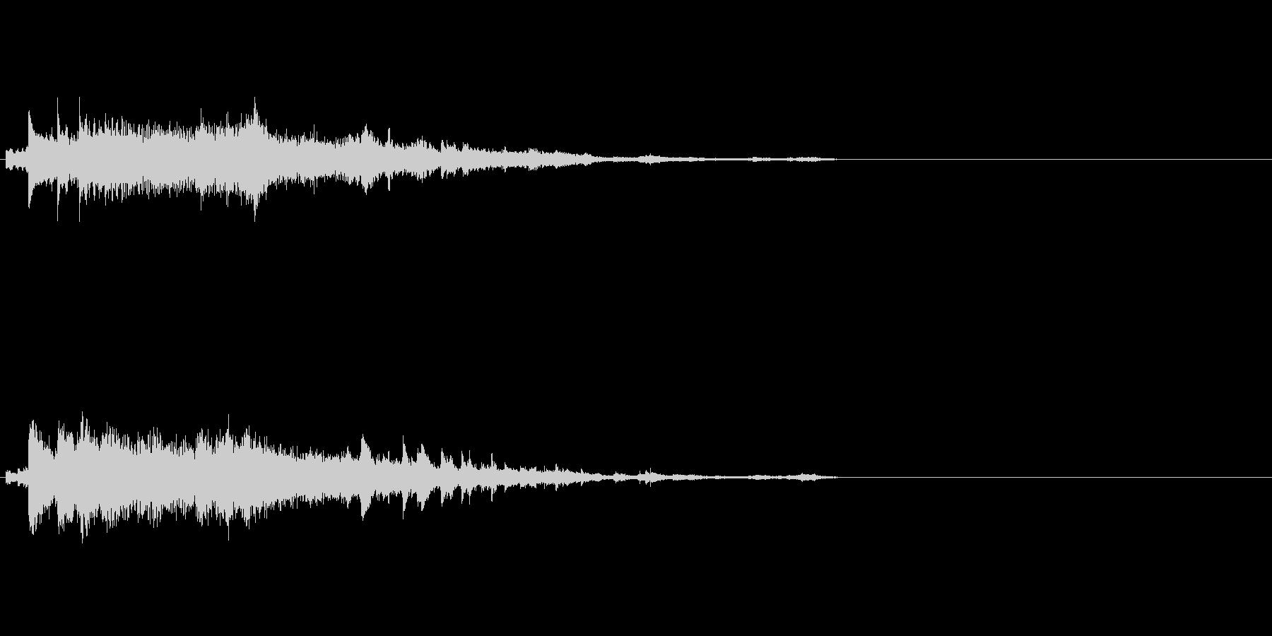 複数音が混じったゴージャスなキラキラキ…の未再生の波形