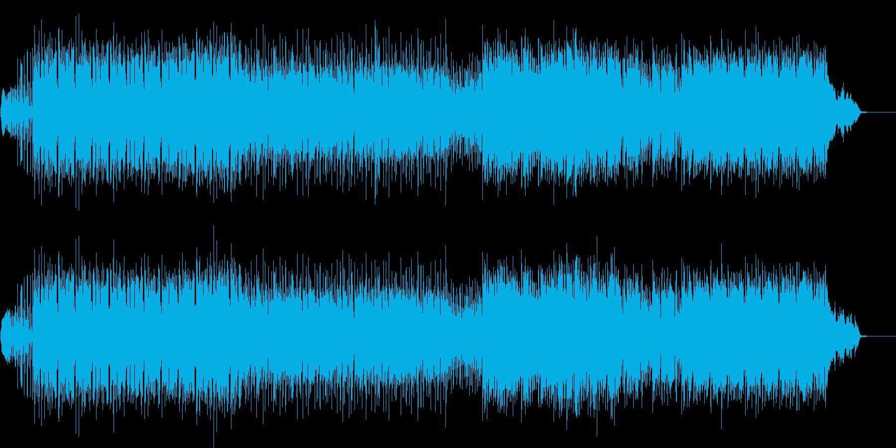 アクション向けのビート重視ポストロックの再生済みの波形