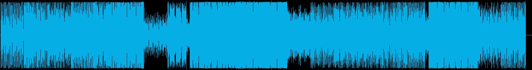 シリアスな雰囲気のゲーム用途BGMの再生済みの波形