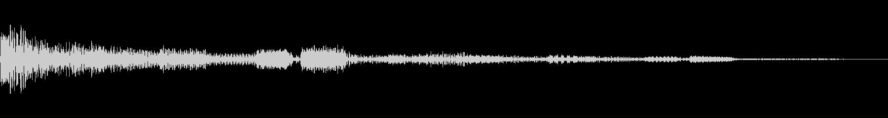 ゲーム アイテム・決定音3の未再生の波形