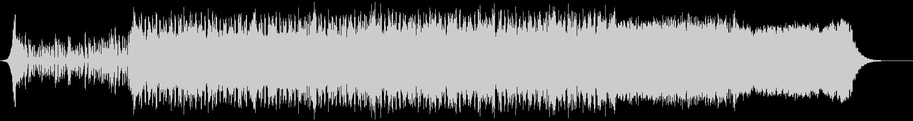 キラキラしたポップな音楽の未再生の波形