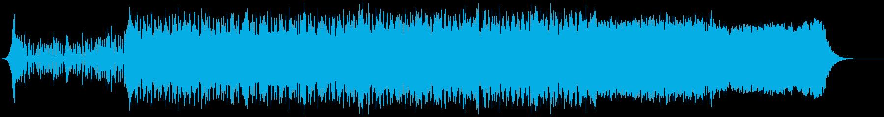 キラキラしたポップな音楽の再生済みの波形