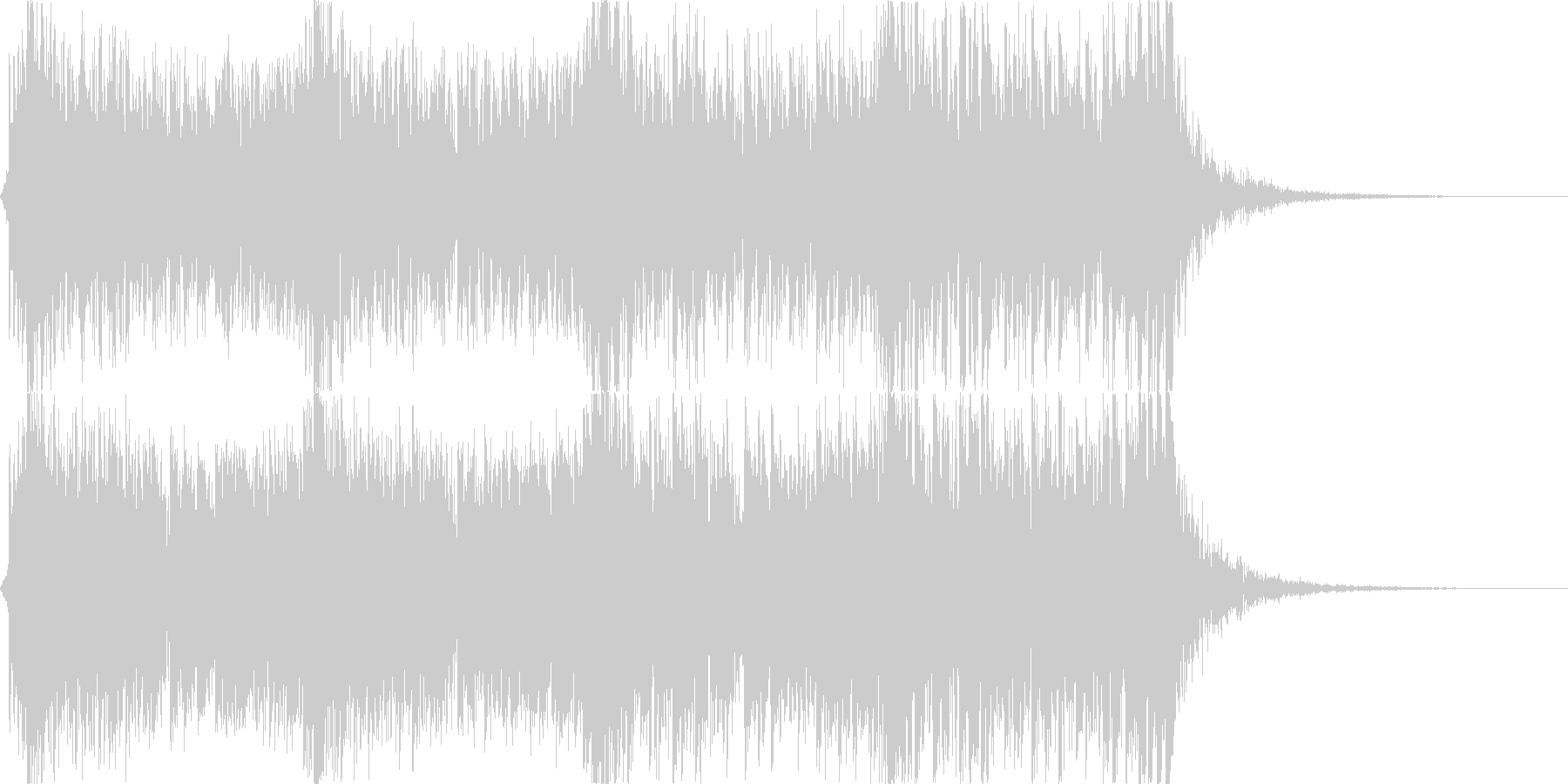 迫力あるシネマティックパーカッション01の未再生の波形