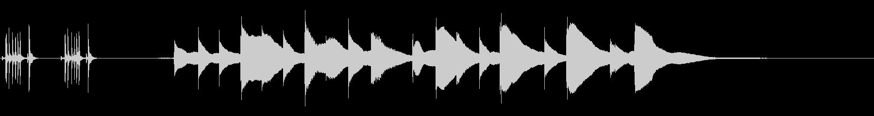 ジングル用オルゴール楽曲03-1の未再生の波形