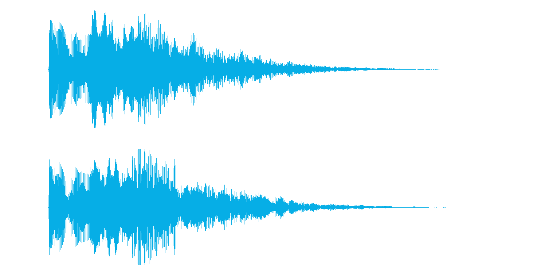 ミス効果音 エラー ゲームオーバー 決定の再生済みの波形