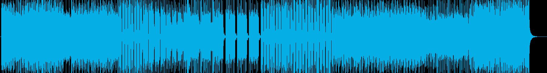 DEATH METAL系激しいインスト曲の再生済みの波形
