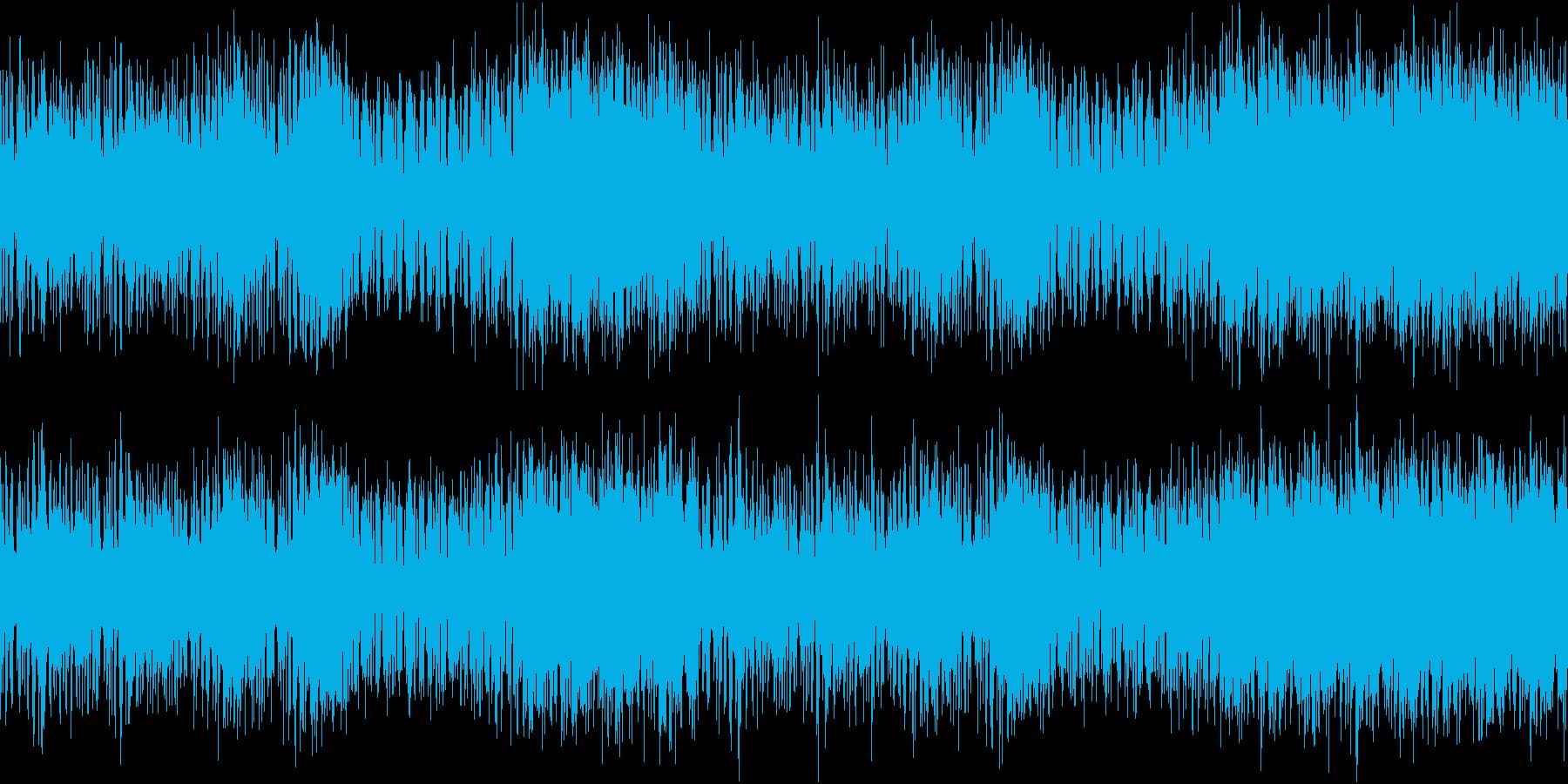 ウクレレ等でテンポ遅め打楽器なしのループの再生済みの波形