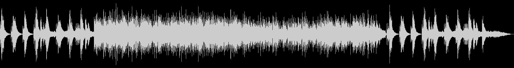 退廃的な雰囲気のBGMの未再生の波形