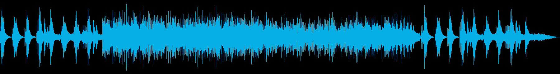 退廃的な雰囲気のBGMの再生済みの波形