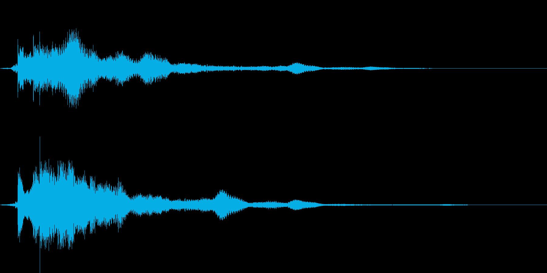 キラキラ → シュワーなアプリ決定音の再生済みの波形