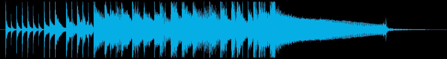 【ゲスト登場のBGM】爽やかなボサノバの再生済みの波形