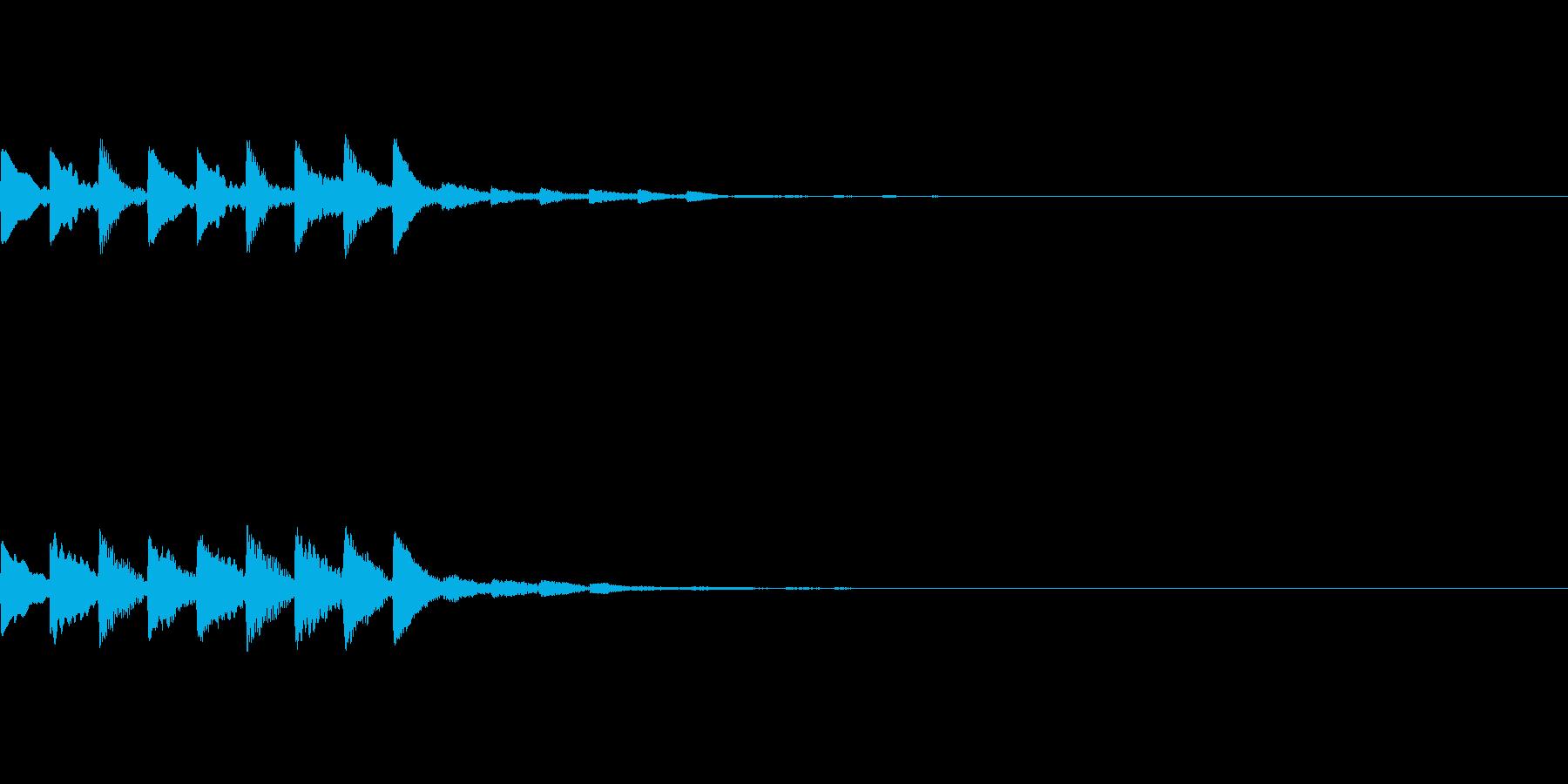 決定音・タッチ音【高め・長め】の再生済みの波形