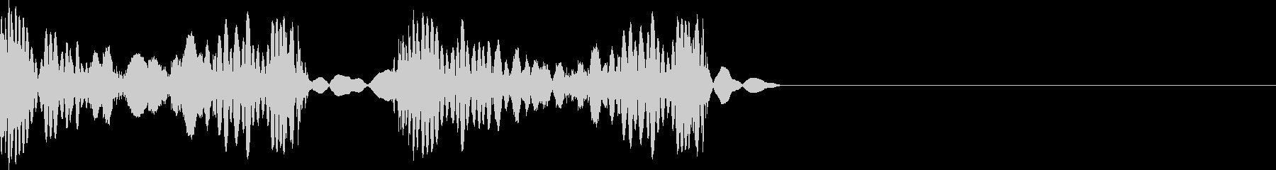 スクラッチ 音の未再生の波形