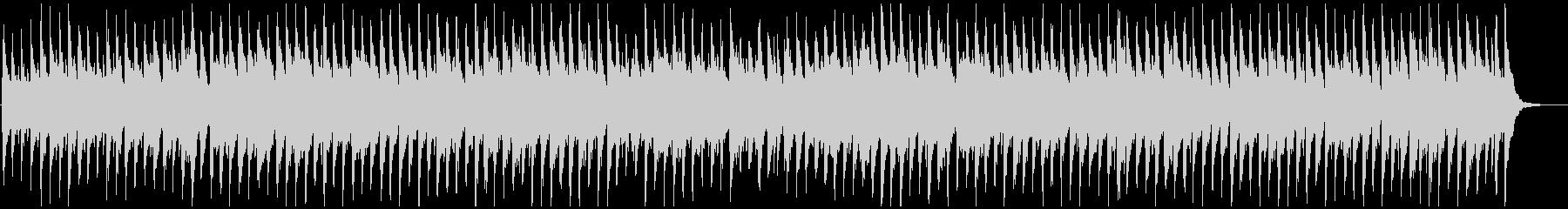 コロコロとした跳ねるリズムのウクレレ曲の未再生の波形