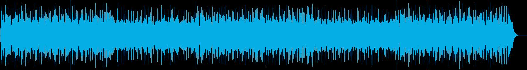 ギターロックな疾走感あるBGMの再生済みの波形