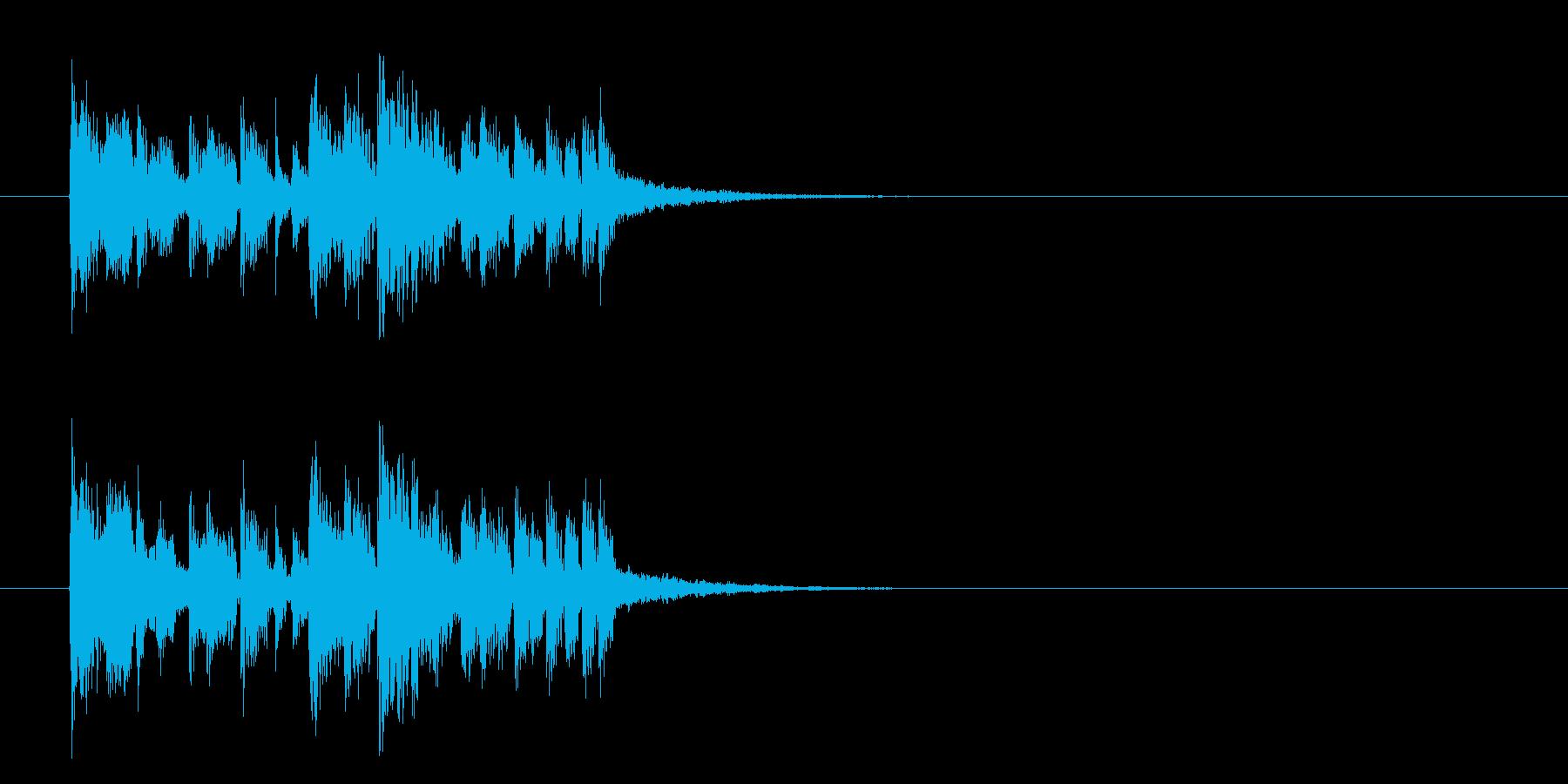 マイナーエレクトロアタックのジングルの再生済みの波形