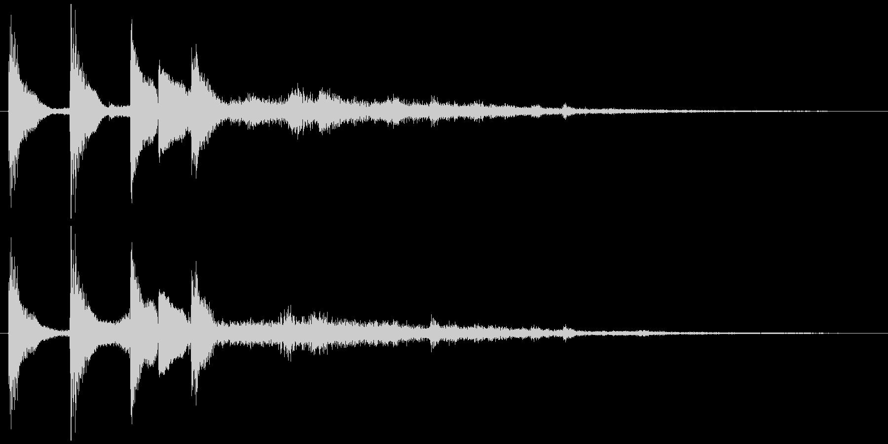 通知音・着信音風ジングル7の未再生の波形