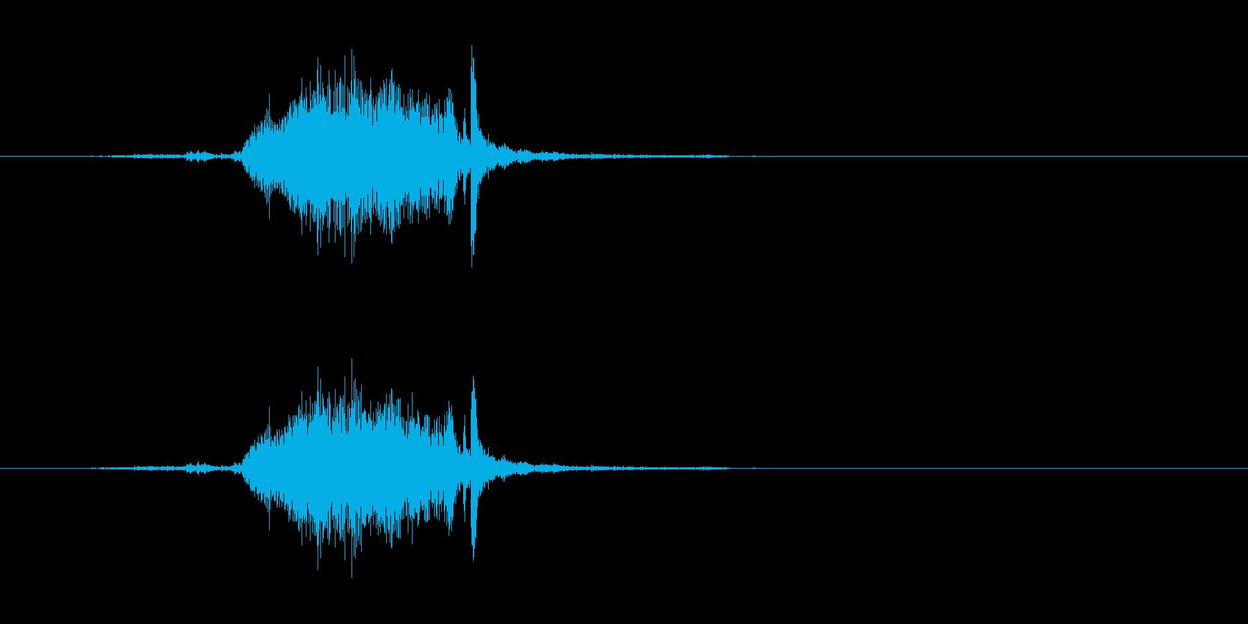【カーテン02-1】の再生済みの波形
