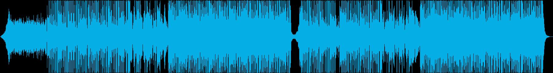 疾走感のあるテクポップ、シンセウェーブ♬の再生済みの波形