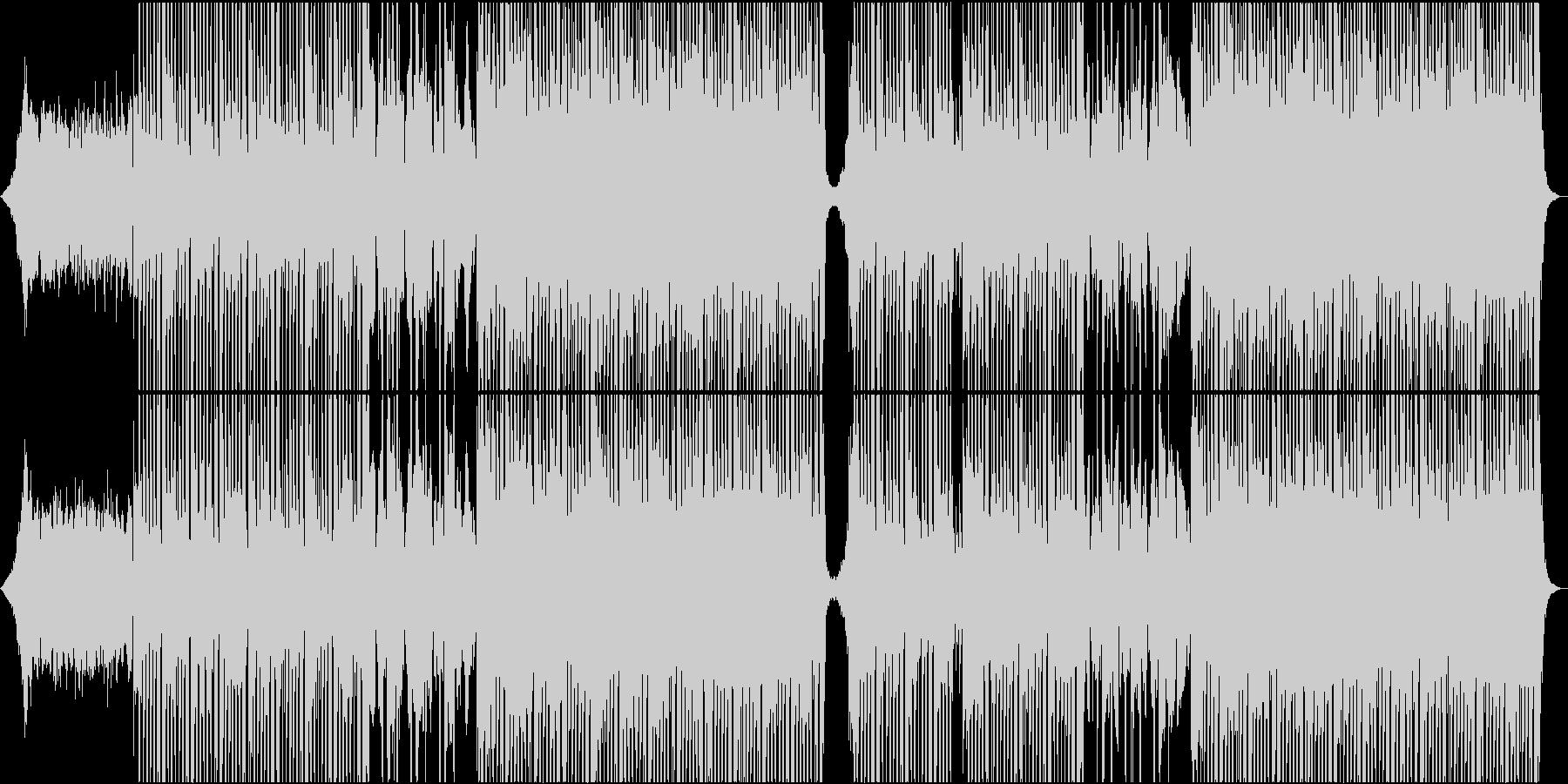 疾走感のあるテクポップ、シンセウェーブ♬の未再生の波形
