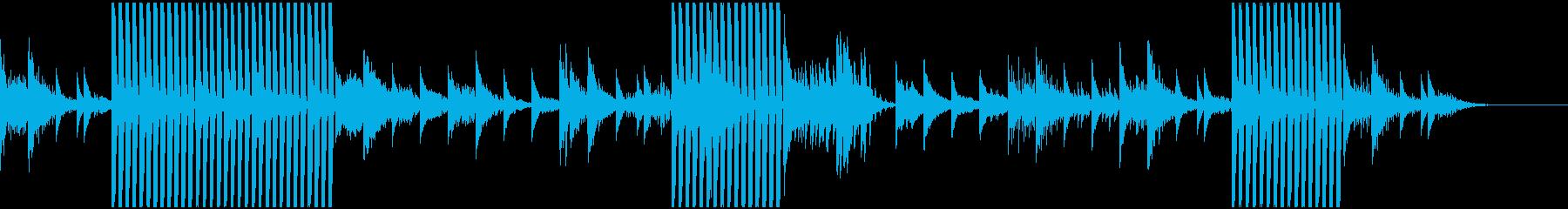 見えない力に導かれる様子のサウンドの再生済みの波形