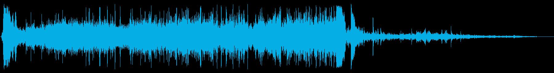 洗面所の水を出している音の再生済みの波形