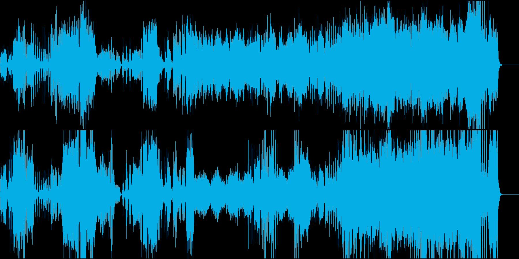 始まりのイメージの晴れやかなストリングスの再生済みの波形