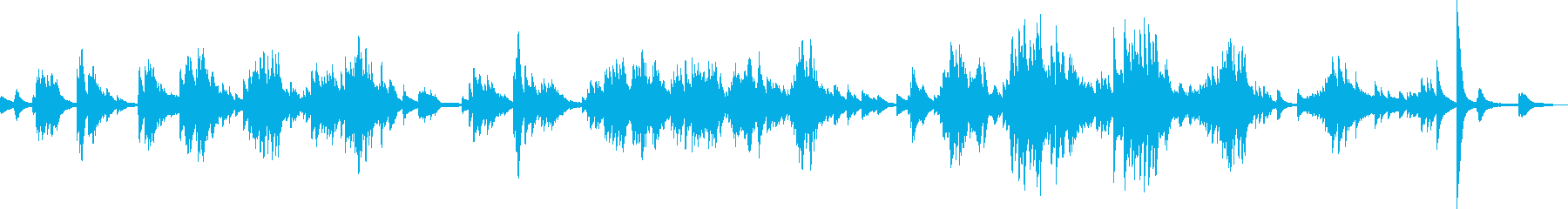 A sad and moody piano solo's reproduced waveform