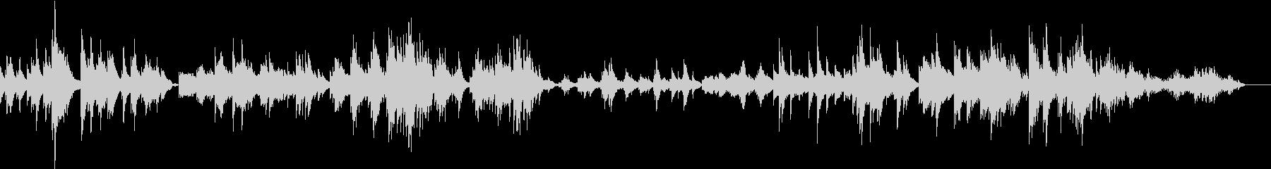 メランコリックで静かなピアノ曲の未再生の波形